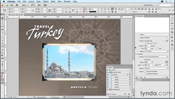 Creating a slideshow: Creating Animations with Adobe InDesign CC