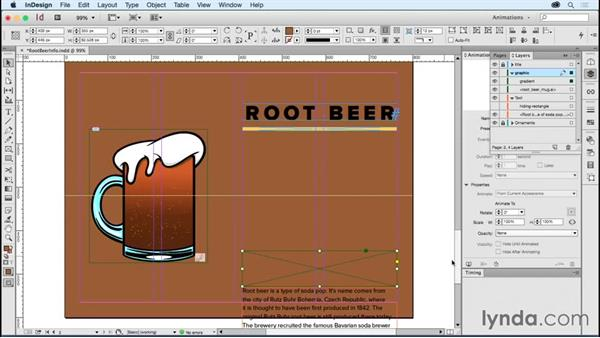 Creating auto-scrolling text: Creating Animations with Adobe InDesign CC