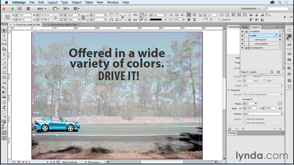 Creating color transitions: Creating Animations with Adobe InDesign CC