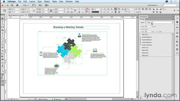 Including animations in Object States (MSOs): Creating Animations with Adobe InDesign CC