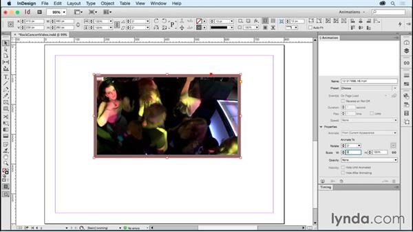 Animating video frames: Creating Animations with Adobe InDesign CC