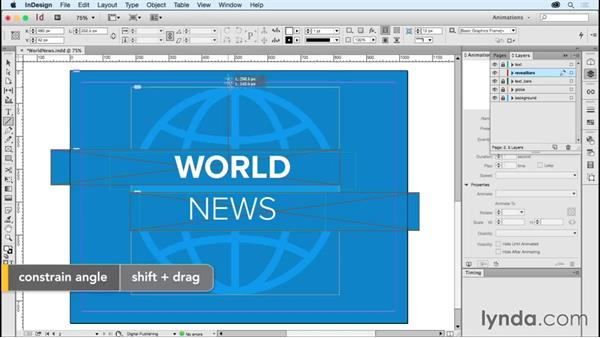 Animating logos: World news: Creating Animations with Adobe InDesign CC