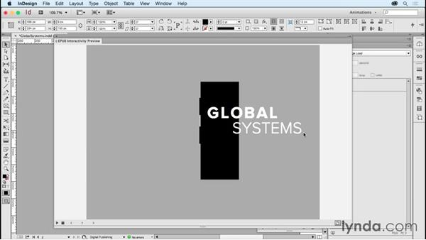Animating logos: Global systems: Creating Animations with Adobe InDesign CC