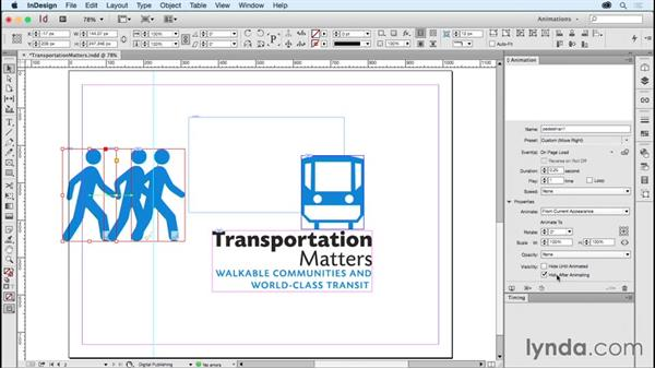 Animating logos: Transportation matters: Creating Animations with Adobe InDesign CC