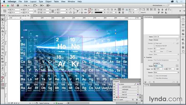 Creating animated ads: Periodic elements: Creating Animations with Adobe InDesign CC