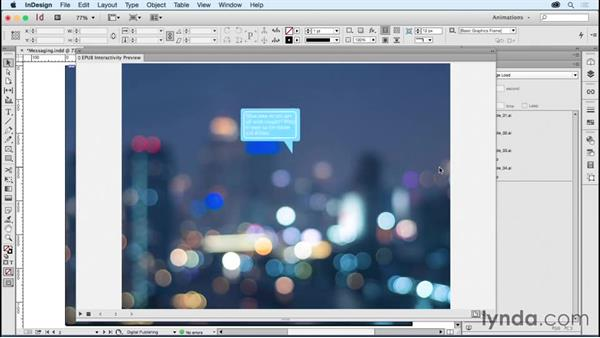 Creating animated ads: Messaging: Creating Animations with Adobe InDesign CC