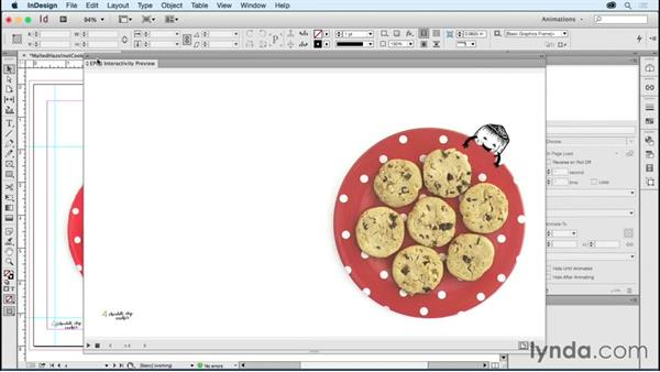 Building an animated cookbook page: Creating Animations with Adobe InDesign CC