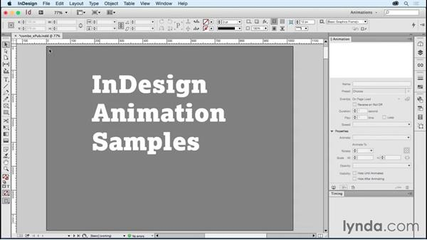 Using animations in fixed-layout EPUBs: Creating Animations with Adobe InDesign CC