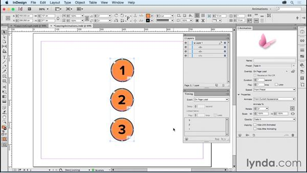 Copying animations: Creating Animations with Adobe InDesign CC