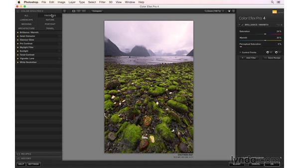 Post-processing work on a fjord photo: Photographing the Fjords of New Zealand