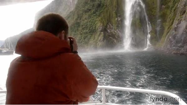 Shooting a waterfall up close on a boat: Photographing the Fjords of New Zealand