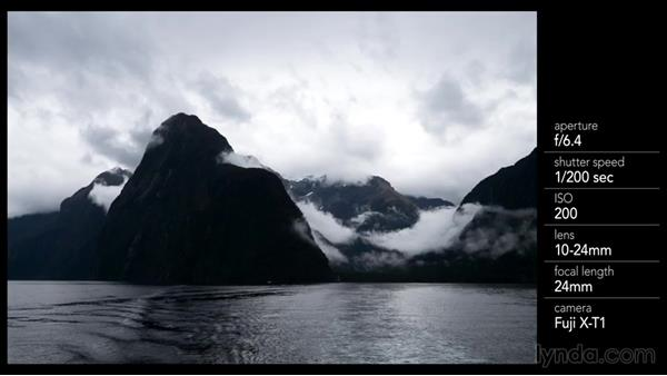 Wrapping up the boat shoot with a wide angle of Mitre Peak: Photographing the Fjords of New Zealand