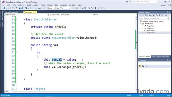Creating C# event handlers: C# Delegates, Events, and Lambdas