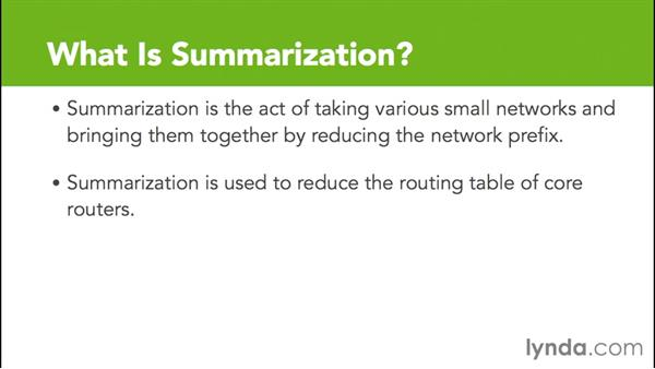 What is summarization?: Cisco Certified Entry Networking Technician Essential Training