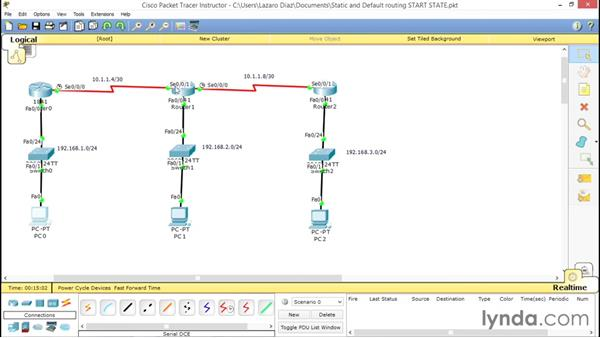 Static routing and default routing: Cisco Certified Entry Networking Technician Essential Training
