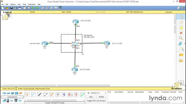 Configuring OSPF multi-access: Cisco Certified Entry Networking Technician Essential Training