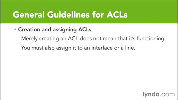 Rules guiding ACLs: Cisco Certified Entry Networking Technician Essential Training