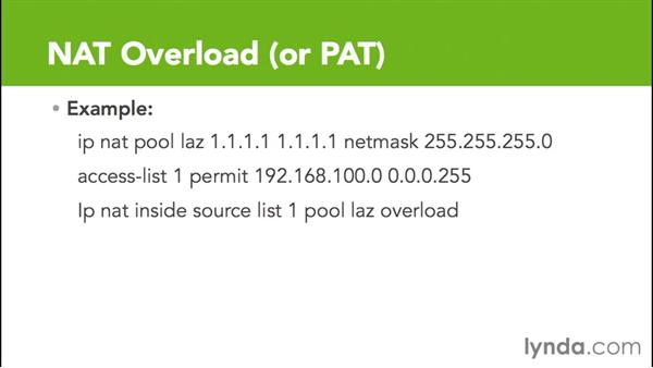 NAT overload or PAT: Cisco Certified Entry Networking Technician Essential Training
