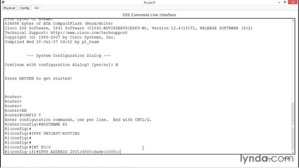 Configuring IPv6 in Cisco routers: Cisco Certified Entry Networking Technician Essential Training