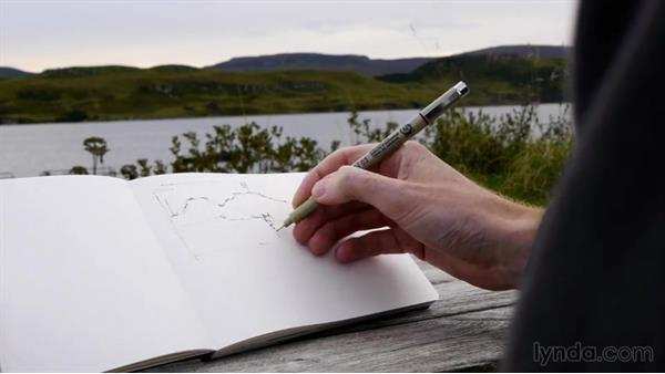 A flat drawing: Foundations of Drawing: Sketching the Landscape
