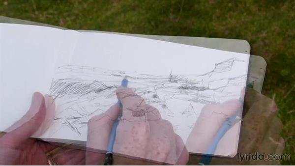 A sketch with a painting in mind: Foundations of Drawing: Sketching the Landscape