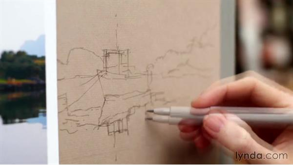 Water and reflections: Foundations of Drawing: Sketching the Landscape