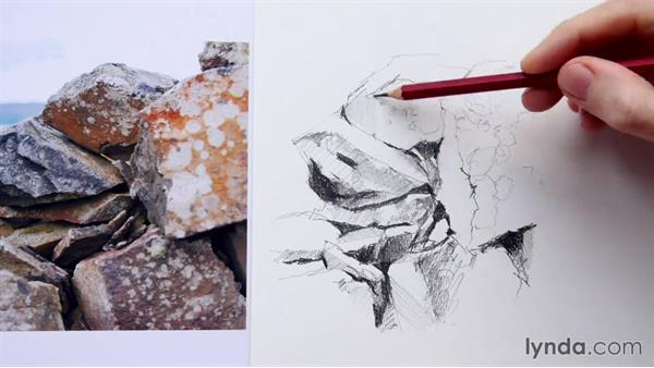 Rocks and mountains: Foundations of Drawing: Sketching the Landscape