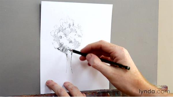 Trees and foliage: Foundations of Drawing: Sketching the Landscape