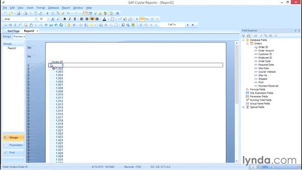 Welcome: Crystal Reports 2013: Experts and Customizing Reports