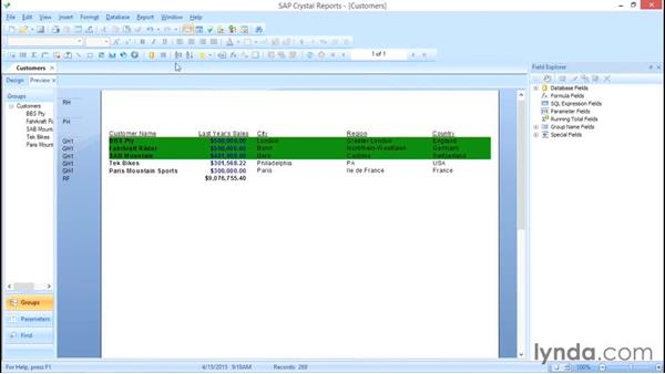 Working with the Section Expert: Crystal Reports 2013: Experts and Customizing Reports