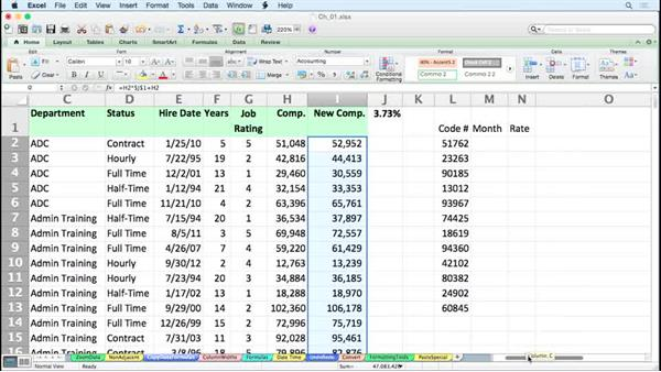 Copying data or formulas down a column instantly: Excel for Mac 2011 Tips and Tricks