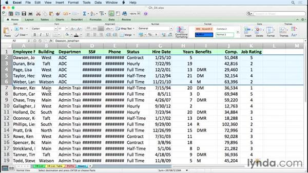 Selecting non-contiguous ranges and visible cells only: Excel for Mac 2011 Tips and Tricks