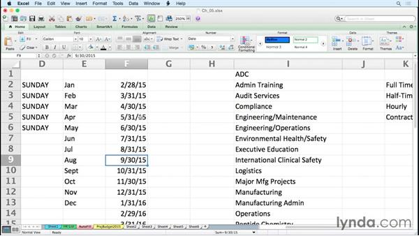 Entering dates and date series efficiently: Excel for Mac 2011 Tips and Tricks