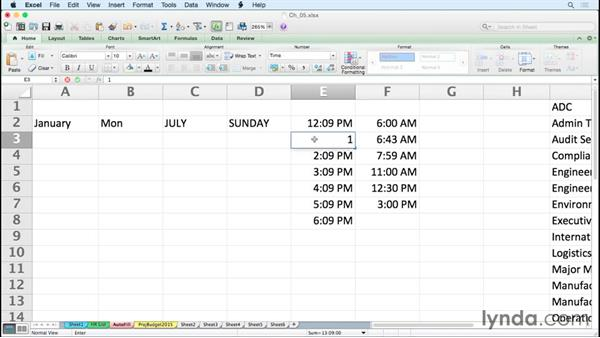 Entering times and time series efficiently: Excel for Mac 2011 Tips and Tricks