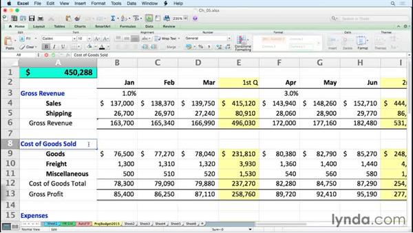 Enhancing editing tools: Excel for Mac 2011 Tips and Tricks