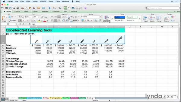 Accentuating data with alignment tools: Excel for Mac 2011 Tips and Tricks