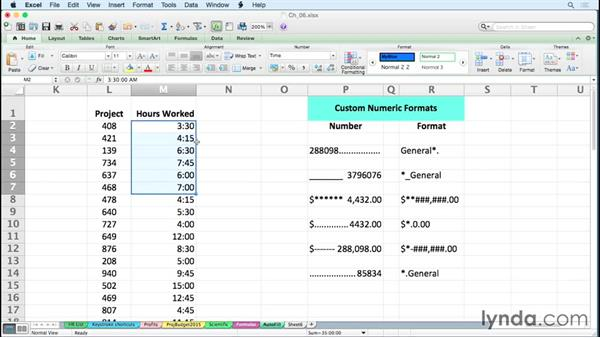 Using special formats for times over 24 hours: Excel for Mac 2011 Tips and Tricks
