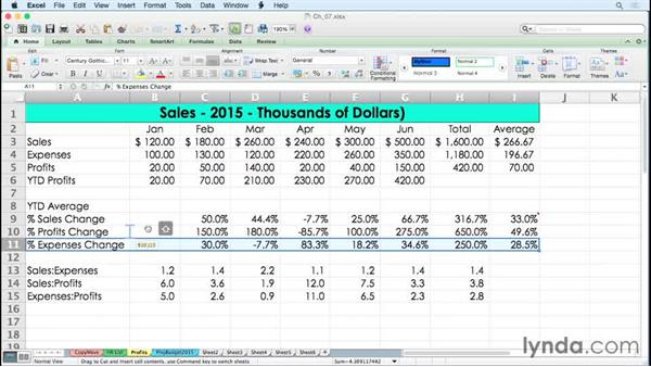 Dragging and inserting with the Shift key: Excel for Mac 2011 Tips and Tricks