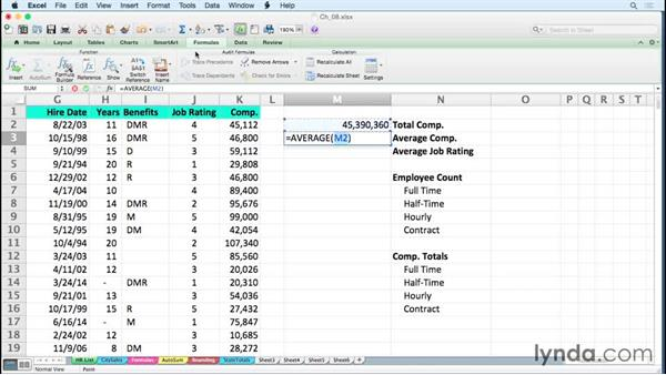 Creating formulas rapidly using row and column references: Excel for Mac 2011 Tips and Tricks