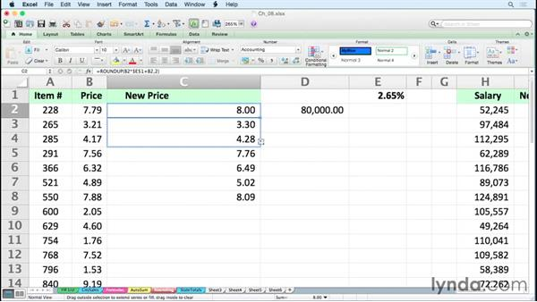 Using rounding shortcuts: Excel for Mac 2011 Tips and Tricks