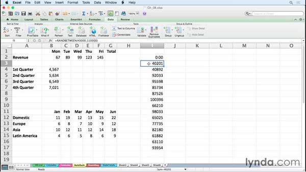 Generating random numbers: Excel for Mac 2011 Tips and Tricks