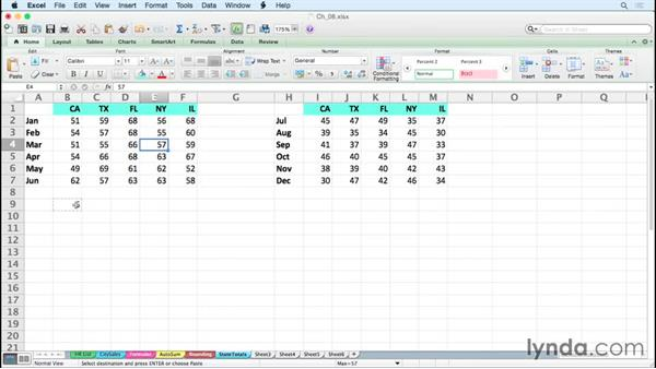 Performing calculations without formulas: Excel for Mac 2011 Tips and Tricks