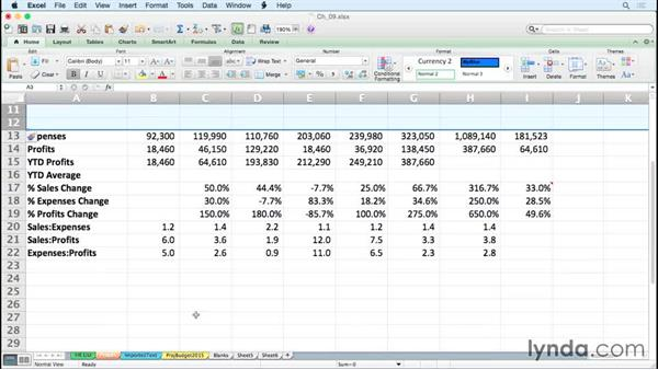 Inserting, deleting, hiding, and unhiding columns and rows rapidly: Excel for Mac 2011 Tips and Tricks