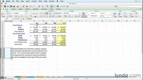 Adjusting imported text alignment: Excel for Mac 2011 Tips and Tricks