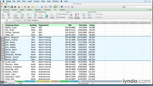 Sorting data on more then one criteria quickly: Excel for Mac 2011 Tips and Tricks