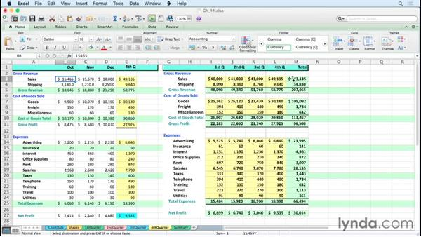 Creating linked dynamic and static images: Excel for Mac 2011 Tips and Tricks