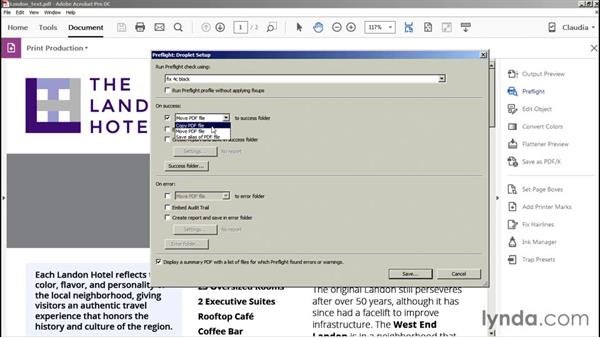Creating a droplet: Preflight and Print Production with Acrobat