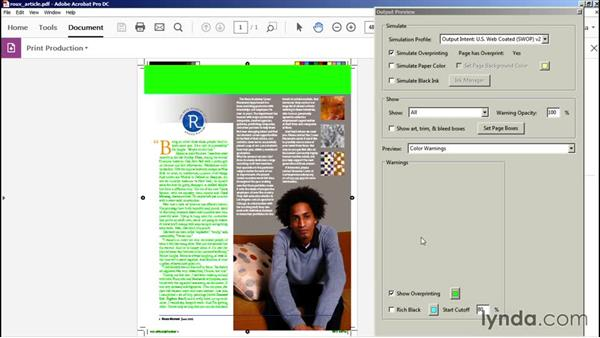 Viewing color warnings: Preflight and Print Production with Acrobat
