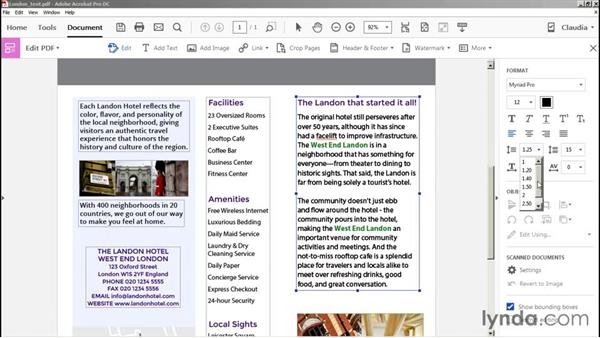 Editing text: Preflight and Print Production with Acrobat