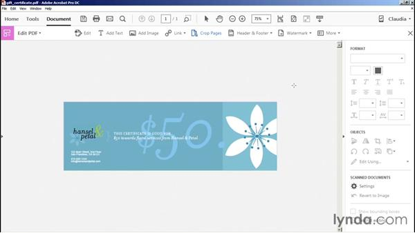 Using the Crop tool: Preflight and Print Production with Acrobat